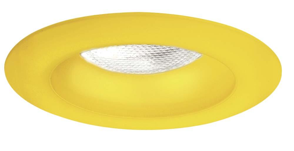 "4"" Frosted Sunshine Yellow Glass Trim Ring"