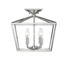 Savoy House 6-328-4-109 - Townsend 4 Light Polished Nickel Semi-Flush Mount