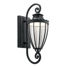 Kichler 49753BKTLED - Outdoor Wall 1Lt LED