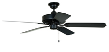 "Craftmade WOD52MBK5P - Cove Harbor 52"" Ceiling Fan with Blades in Matte Black"