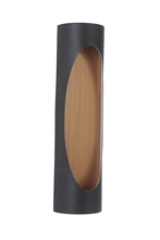 Craftmade Z3122-30-LED - 2 Light Matte Black/Satin Brass LED Pocket Sconce