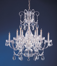 Crystorama 1035-CH-CL-MWP - Traditional Crystal 12 Light Crystal Chrome Chandelier