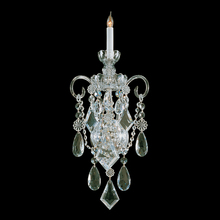 Crystorama 1041-PB-CL-MWP - Traditional Crystal 1 Light Glass Sconce