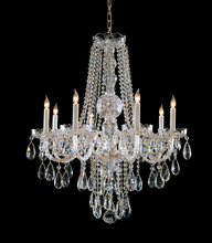 Crystorama 1108-CH-CL-MWP - Traditional Crystal 8 Light Crystal Chrome Chandelier