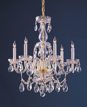 Crystorama 1126-PB-CL-MWP - Traditional Crystal 6 Light Crystal Brass Chandelier