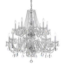 Crystorama 1139-CH-CL-MWP - Traditional Crystal 16 Light Chrome Chandelier