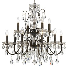 Crystorama 3029-EB-CL-MWP - Butler Modern 12 Light English Bronze Chandelier