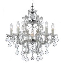 Crystorama 4335-CH-CL-MWP - Maria Theresa 6 Light Crystal Chrome Chandelier