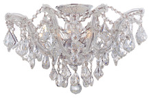 Crystorama 4437-CH-CL-MWP - Maria Theresa 5 Light Clear Crystal Ceiling Mount - Hand Cut