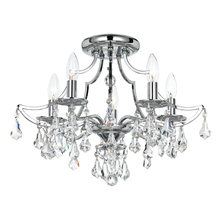 Crystorama 5930-CH-CL-MWP - Cedar 5 Light Polished Chrome Ceiling Mount
