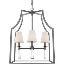 Crystorama 8864-OR - Baxter 4 Light Oil Rubbed Bronze Chandelier