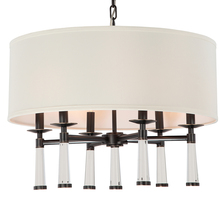 Crystorama 8866-OR - Baxter 6 Light Oil Rubbed Bronze Chandelier
