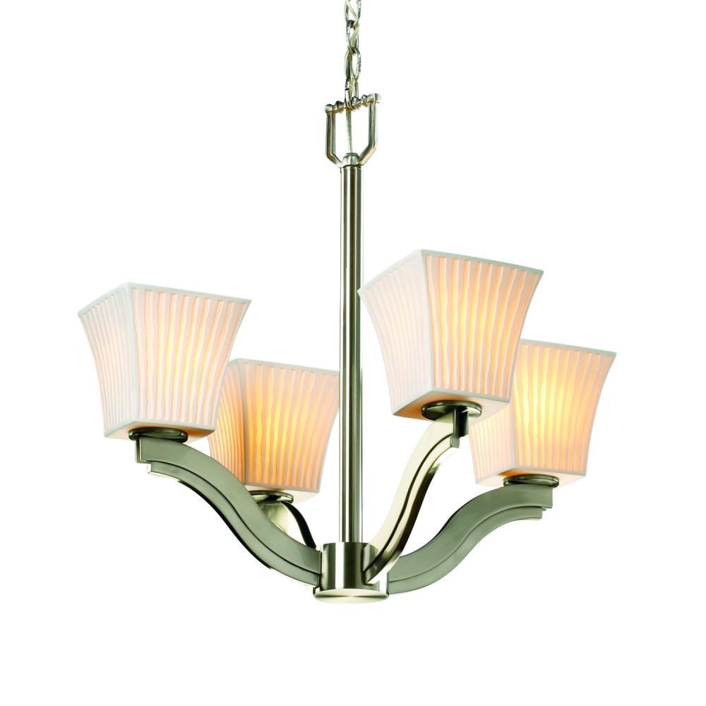Bend 4-Light Chandelier : POR-8970-40-WFAL-NCKL-LED4-2800   Pine ...