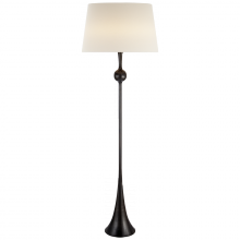 Visual Comfort ARN 1002AI-L - Dover Floor Lamp in Aged Iron with Linen Shade