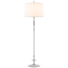 Visual Comfort BBL 1002WHT-S - Lotus Floor Lamp in Plaster White with Silk Shad