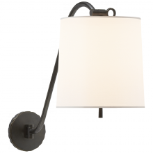 Visual Comfort BBL 2010BZ-S - Understudy Sconce in Bronze and Silk Shade