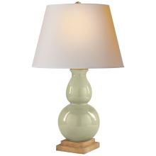 Visual Comfort CHA 8613CC-NP - Gourd Form Small Table Lamp in Celadon Crackle w