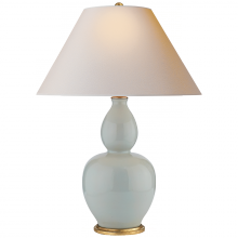 Visual Comfort CHA 8663ICB-NP - Yue Double Gourd Table Lamp in Ice Blue with Nat