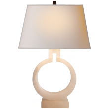 Visual Comfort CHA 8969ALB-NP - Ring Form Small Table Lamp in Alabaster with Nat