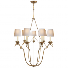 Visual Comfort CHC 1403GI-NP - Belvedere Chandelier In Gilded Iron with Natural