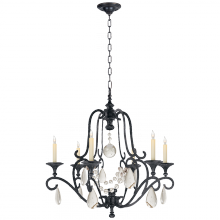 Visual Comfort CHC 1420AI-SG - Piedmont Chandelier in Aged Iron with Seeded Gla