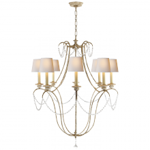 Visual Comfort CHC 1554OW-NP - Montmarte Chandelier in Old White and Glass with