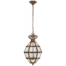 Visual Comfort CHC 5261GI-AM - Venezia Small Faceted Scroll-Top Lantern in Gild