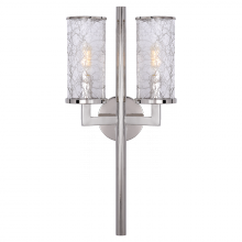 Visual Comfort KW 2201PN-CRG - Liaison Double Sconce in Polished Nickel with Cr
