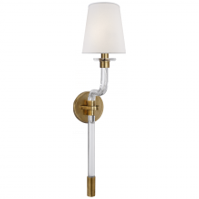 Visual Comfort RL 2145CG/NB-S - Parker Single Sconce in Natural Brass with Silk