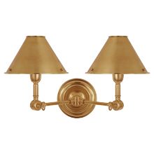 Visual Comfort RL 2252NB - Anette Double Sconce in Natural Brass