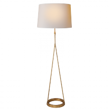 Visual Comfort S 1400GI-NP - Dauphine Floor Lamp in Gilded Iron with Natural