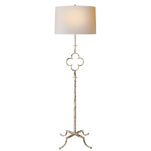 Visual Comfort SK 1500BW-L - Quatrefoil Floor Lamp in Belgian White with Line
