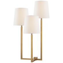 Visual Comfort SK 3030HAB-L - Margot Medium Triple Arm Table Lamp in Hand-Rubb