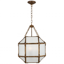 Visual Comfort SK 5008GI-FG - Morris Small Lantern in Gilded Iron with Frosted