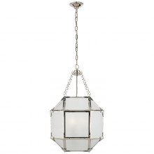 Visual Comfort SK 5008PN-FG - Morris Small Lantern in Polished Nickel with Fro
