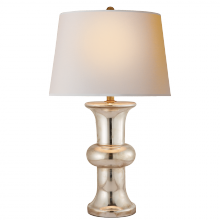 Visual Comfort SL 3845MG-NP - Bull Nose Cylinder Table Lamp in Mercury Glass w