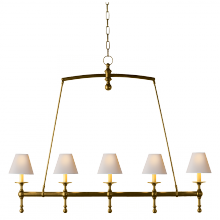 Visual Comfort SL 5811HAB-NP - Classic Linear Chandelier in Hand-Rubbed Antique
