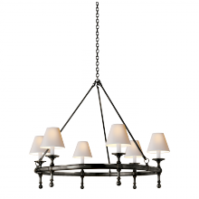 Visual Comfort SL 5812BZ-NP - Classic Ring Chandelier in Bronze with Natural P
