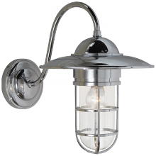 Visual Comfort SLO 2003CH-CG - Marine Medium Wall Light in Chrome with Clear Gl