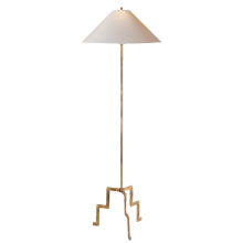 Visual Comfort SP 1000GI-NP - Lancaster Floor Lamp in Gilded Iron with Natural