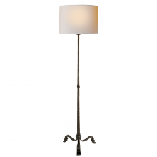 Visual Comfort SP 1003AI-NP - Wells Floor Lamp in Aged Iron with Natural Paper