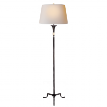 Visual Comfort SP 1004AI-NP - Maurice Floor Lamp in Aged Iron with Quartz and