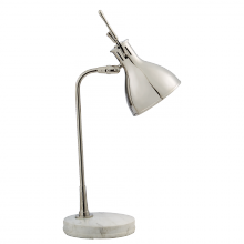Visual Comfort TOB 3206PN/WM - Enrico Table Lamp in Polished Nickel with White