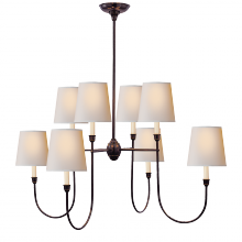 Visual Comfort TOB 5008BZ-NP - Vendome Large Chandelier in Bronze with Natural