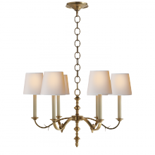 Visual Comfort TOB 5119HAB-NP - Channing Small Chandelier in Hand-Rubbed Antique