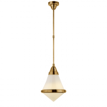 Visual Comfort TOB 5155HAB-WG - Gale Small Pendant in Hand-Rubbed Antique Brass