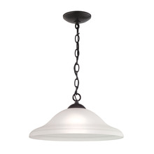 Thomas 1221PL/10 - Conway 1-Light Pendant in Oil Rubbed Bronze with White Glass