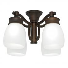 Casablanca Fan Company 99091 - Outdoor 4 Light Fixture, Maiden Bronze with Cased White glass