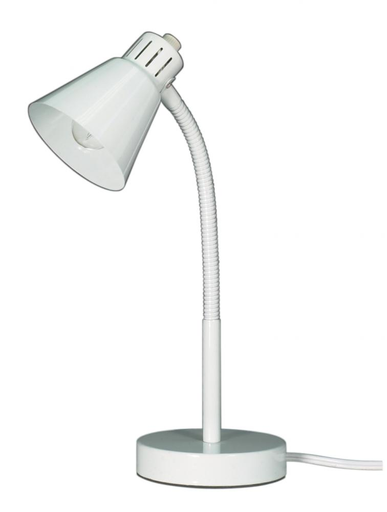 Small Goose Neck Desk Lamp Wht