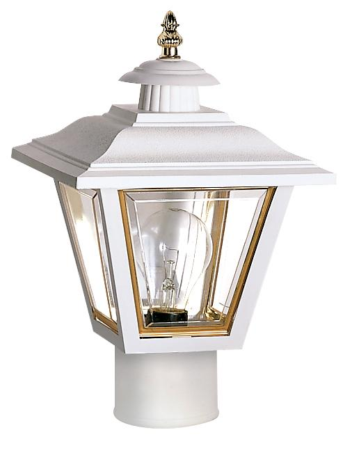 1 Light Poly Coach Post Lantern